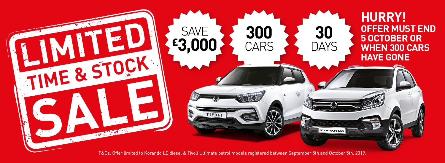 SsangYong limited stock sale